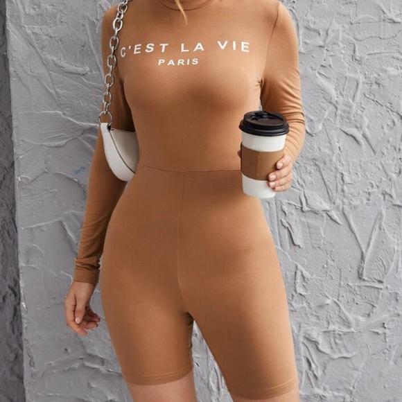 Brown Jumpsuit.